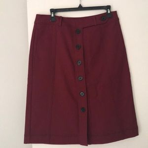 Burgundy LOFT skirt